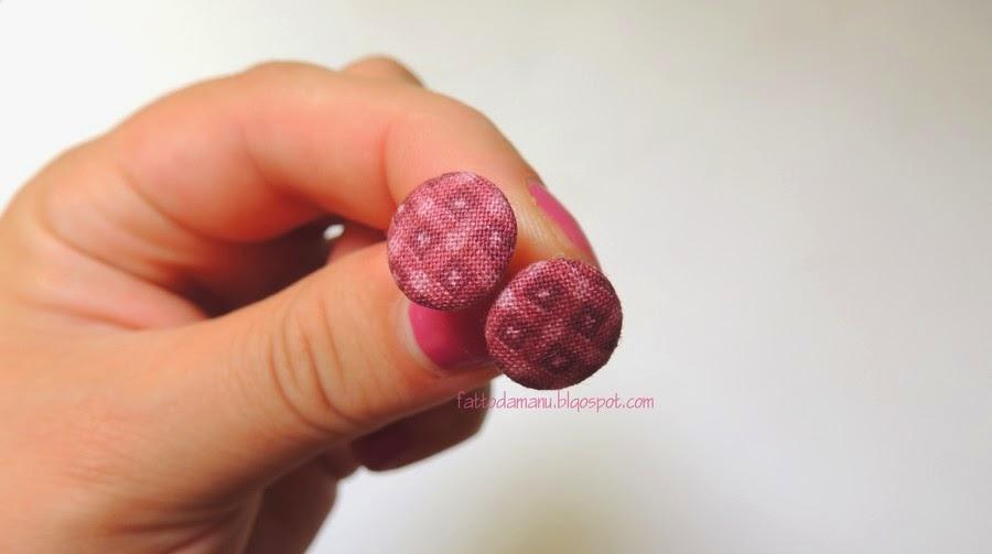 Orecchini Bottoncini - bottoni - Rosa antico