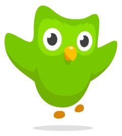 Duolingo - Coruja Verde Mascote