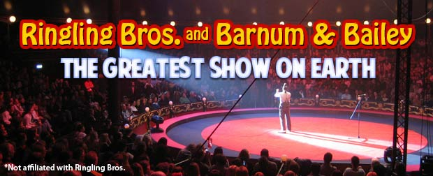 Celebrity seats for Ringling Bros. on 1/22/12 - YouTube