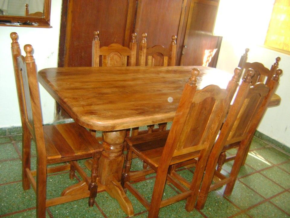 de Muebles y Artesanías en Algarrobo Machagai JUEGO DE COMEDOR