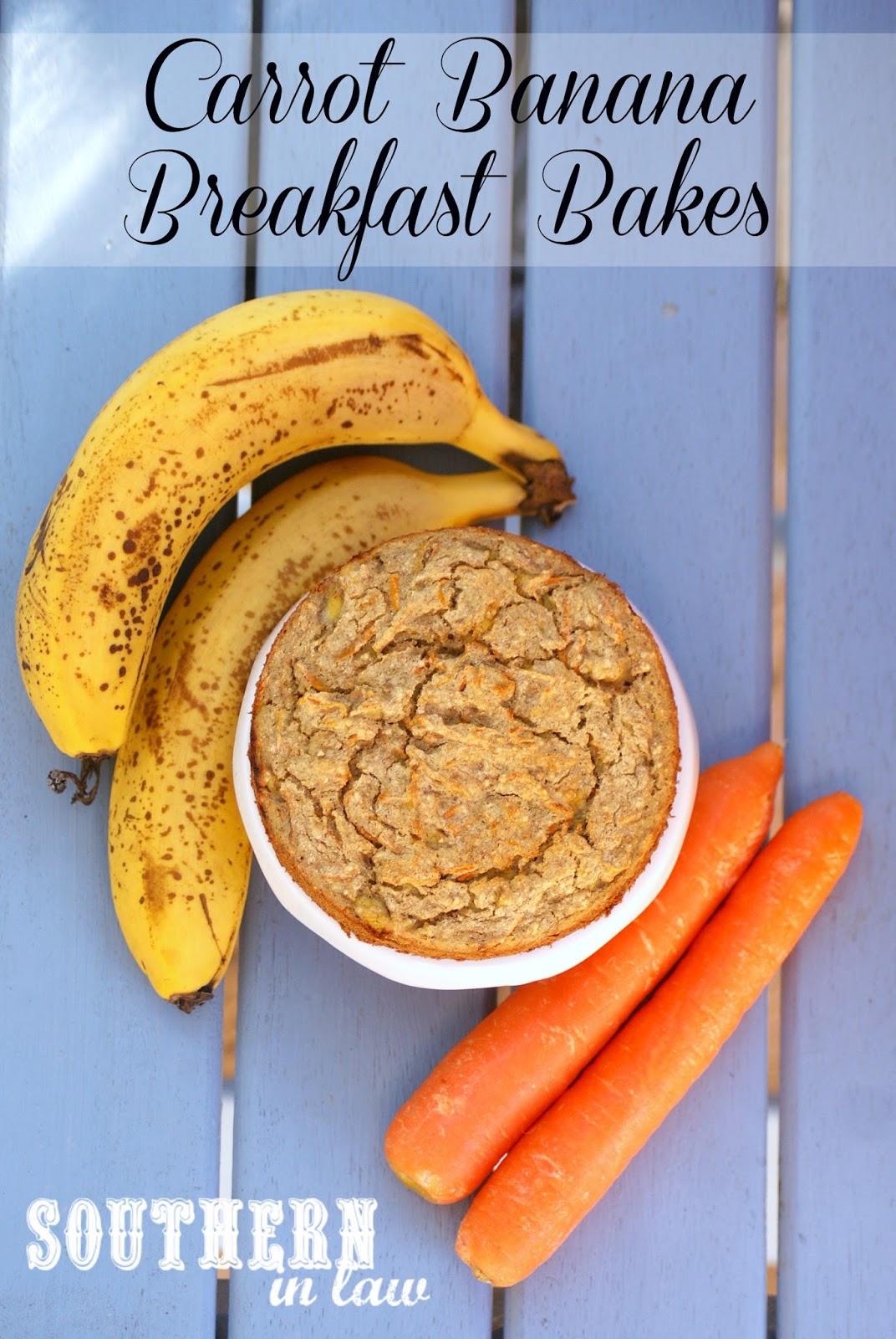 Carrot Banana Breakfast Bakes makes 5 breakfast bakes or ~10 muffins