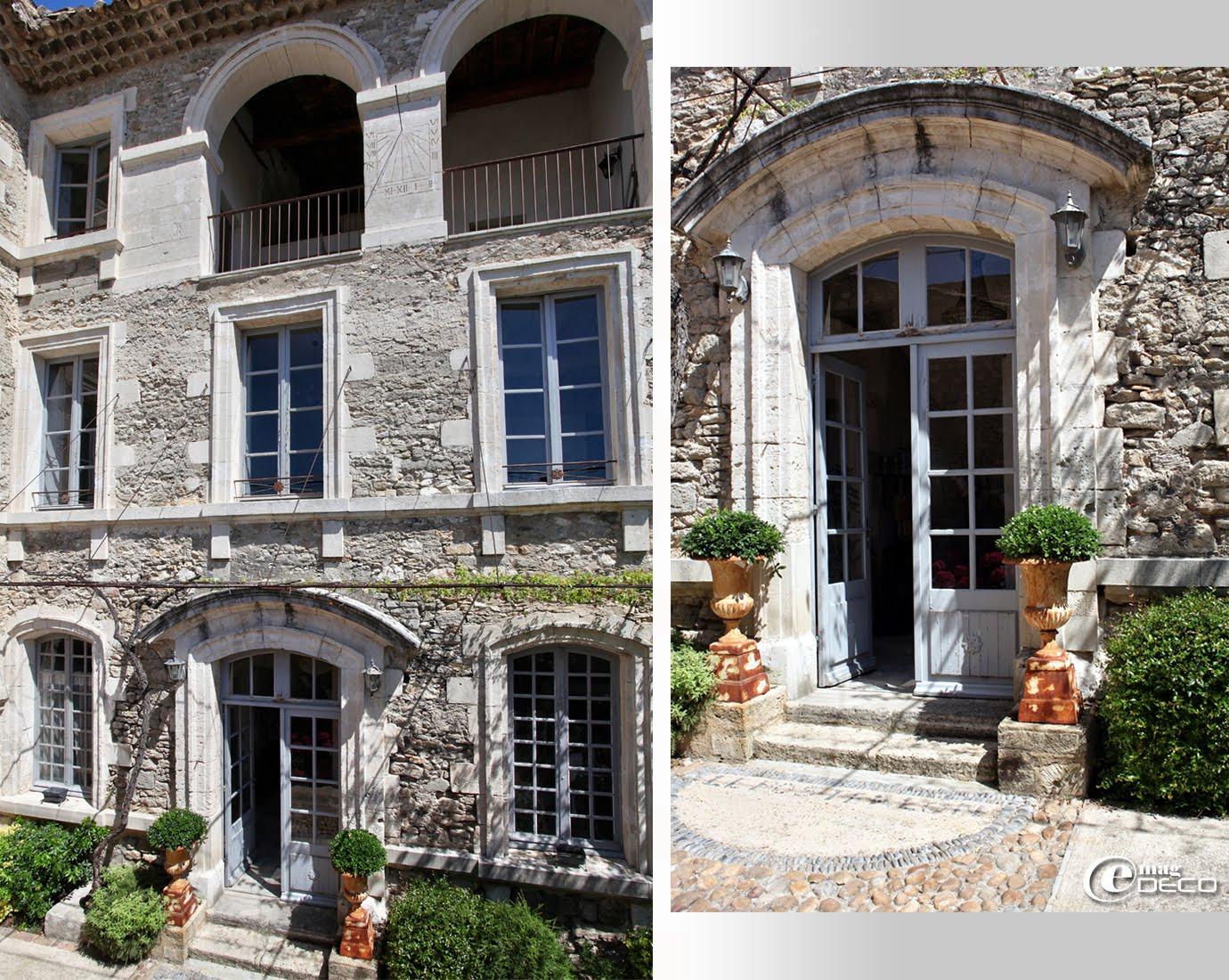 Façade côté jardin du Posterlon, maison d'hôtes à Caumont-sur-Durance dans le Vaucluse