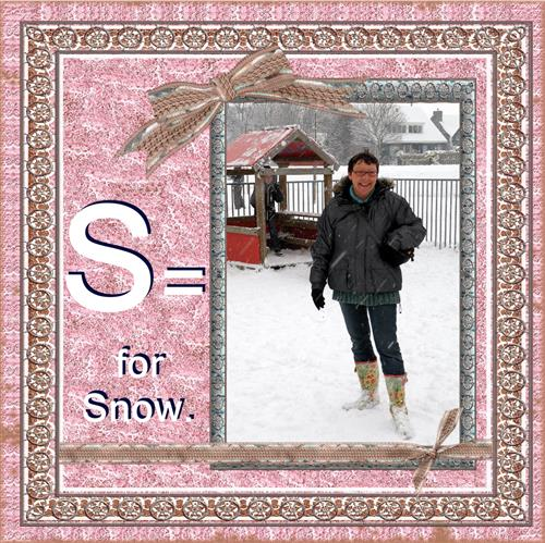 S = for snow -
