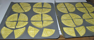 making homemade tortilla chips