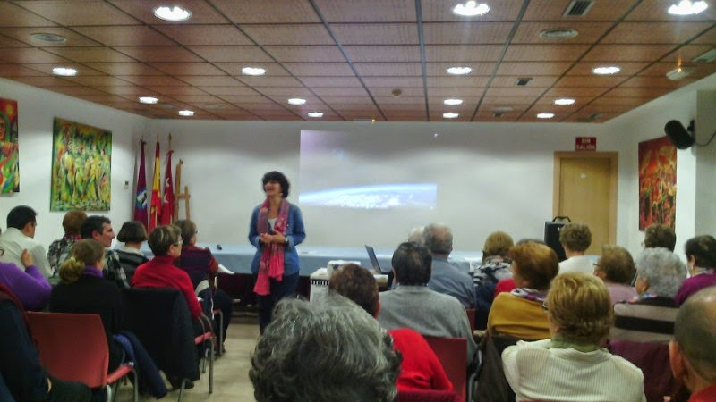 Participantes en el cine-encuentro noviembre 2014 en Vicalvaro
