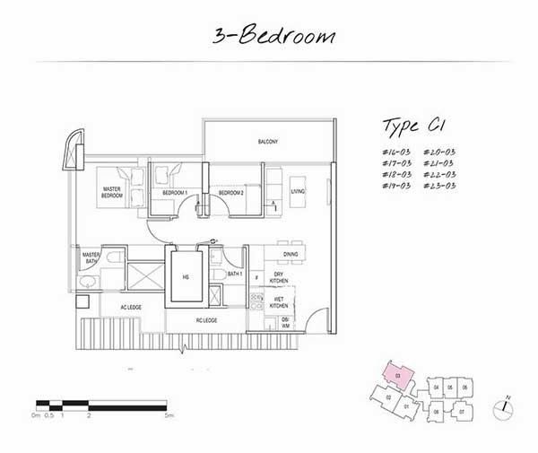 Spottiswoode Suites 3 Bedroom Floor Plan