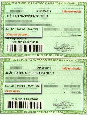 O documento militar é o primeiro no Brasil a reconhecer a união entre duas pessoas do mesmo sexo (Foto: Reprodução)