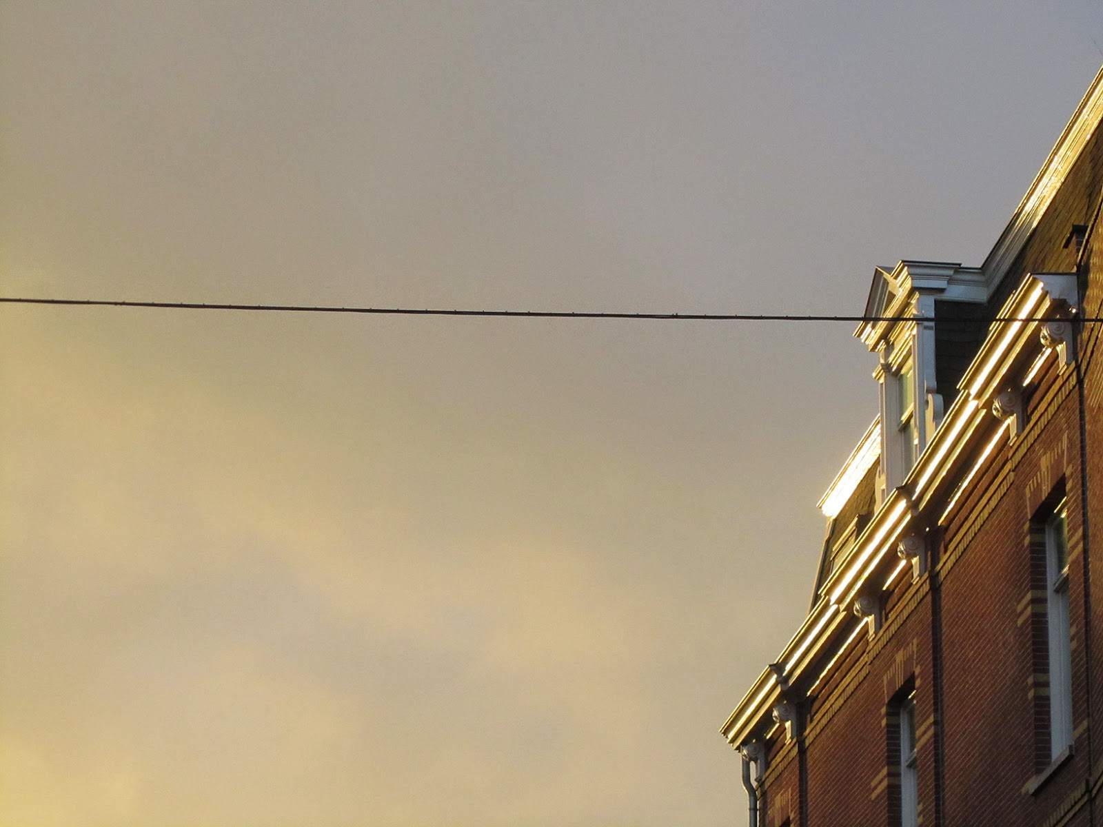 eery light with house and cable