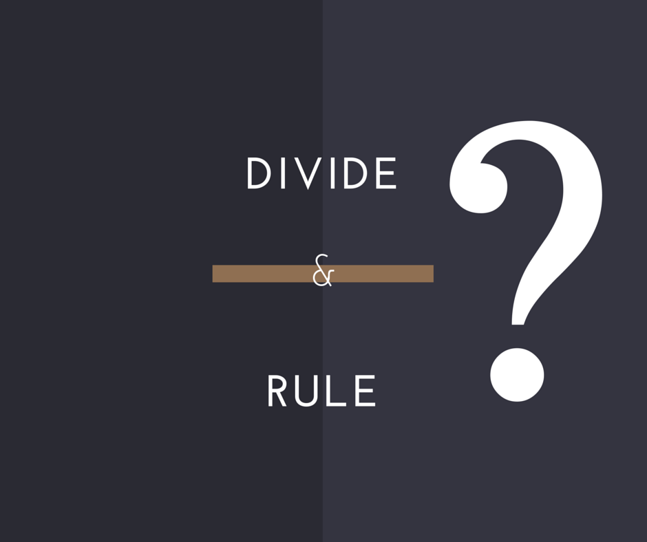 divide and rule india The first official meeting of the indian national congress (inc) was held in 1885   of the british government efforts to divide the province of bengal along  india  was at the eve of its freedom from the british rule and all set to.