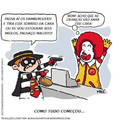 Tirinha do Mcdonalds