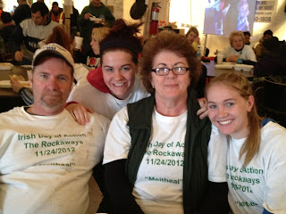 A group  of Irish volunteers who took part in the first Irish Day of Action for the Rockaways last November