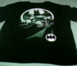 Batman Bat Signal black t-shirt from Walmart