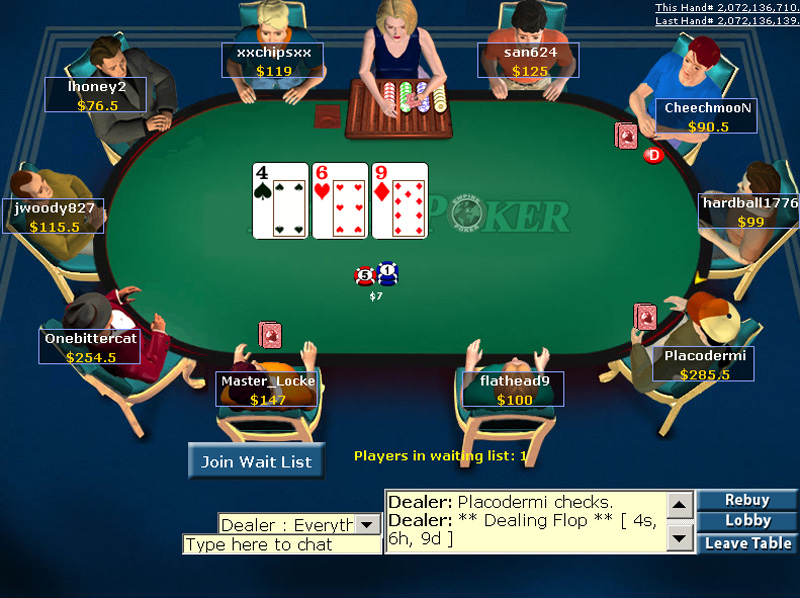 free poker game online