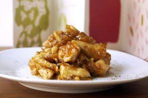 Spezzatino di pollo in salsa di cipolla e fichi neri
