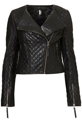collarless biker jacket, quilted leather jacket