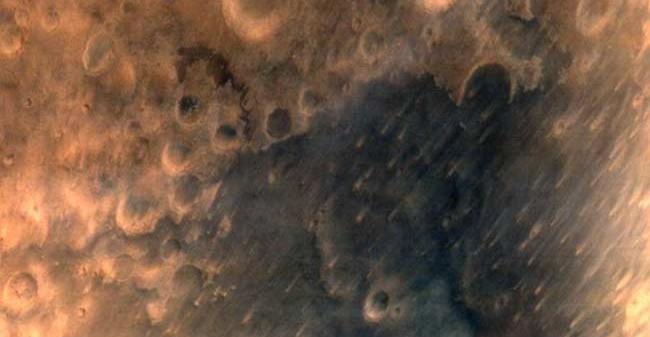 Picture of Mars tweeted by ISRO. Credit: ISRO