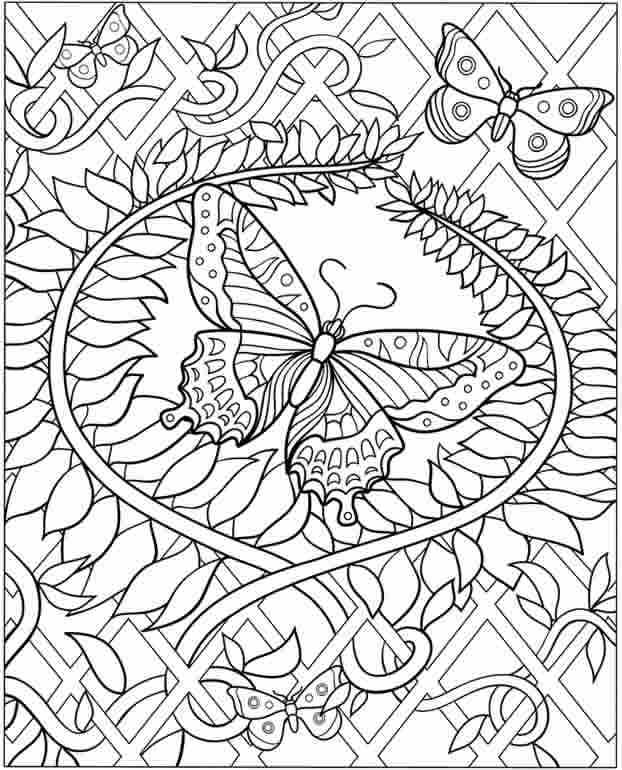flower detailed coloring pages - photo#2