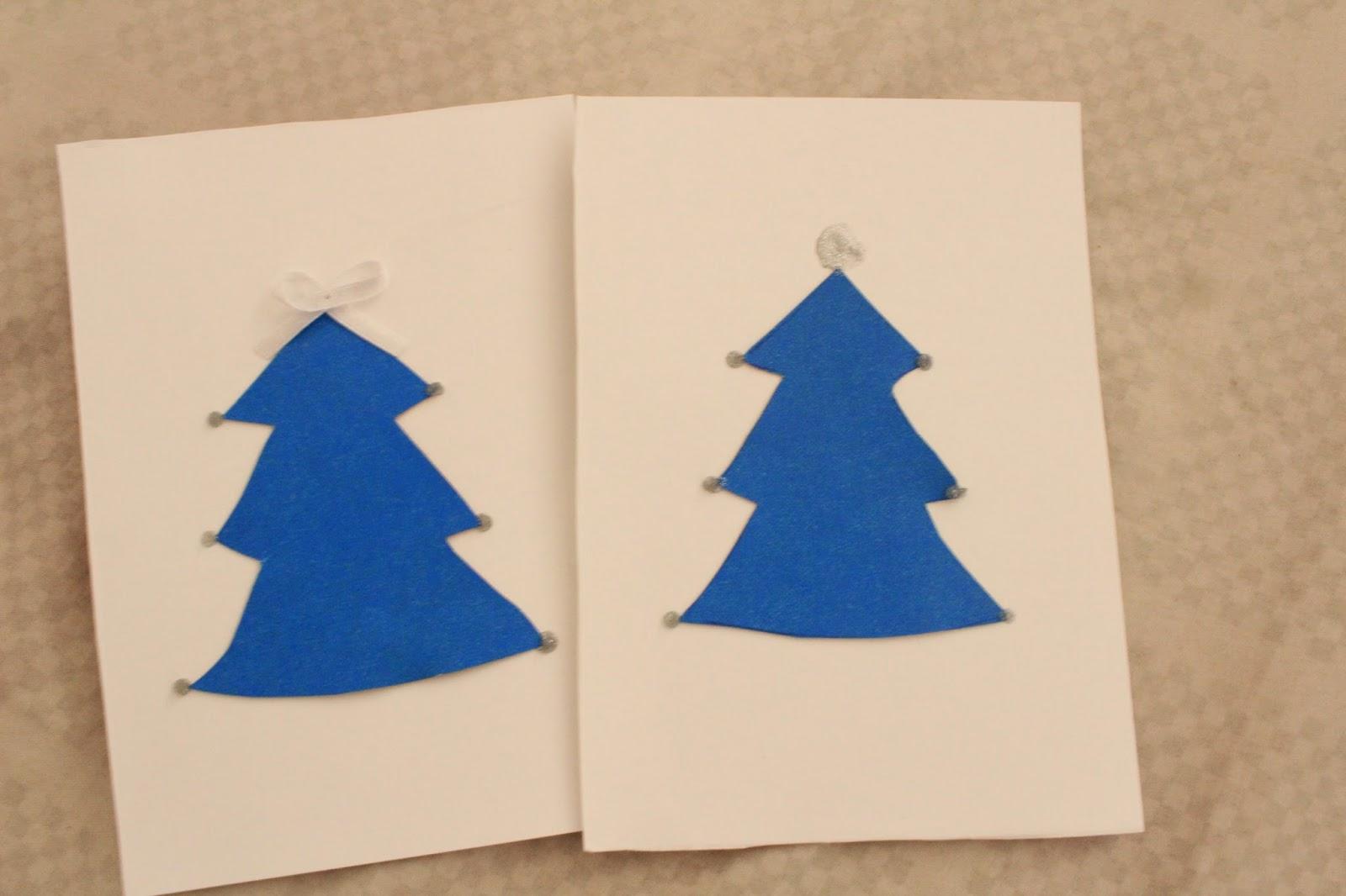 DIY cartões de natal - PAP cartões natalinos - Decoração de Natal