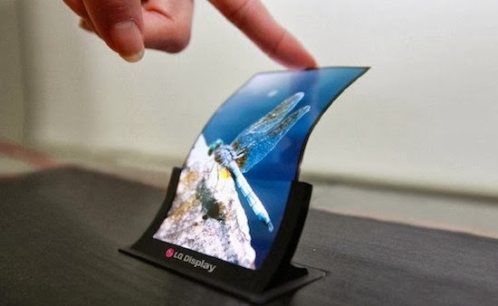 lg g flex smartphone display