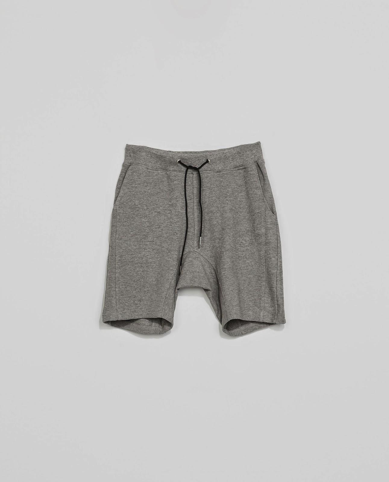 Bermuda algodón, gris, grey, Zara Men