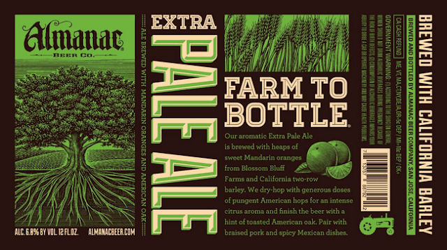 Almanac Beer Company Pale Ale Label Design