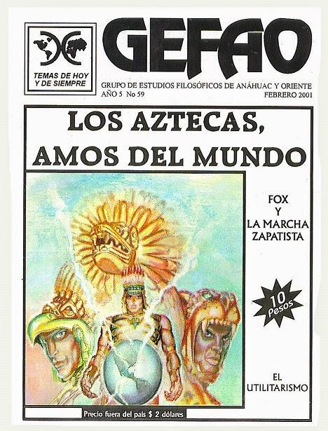 REVISTA GEFAO LOS AZTECAS AMOS DEL MUNDO