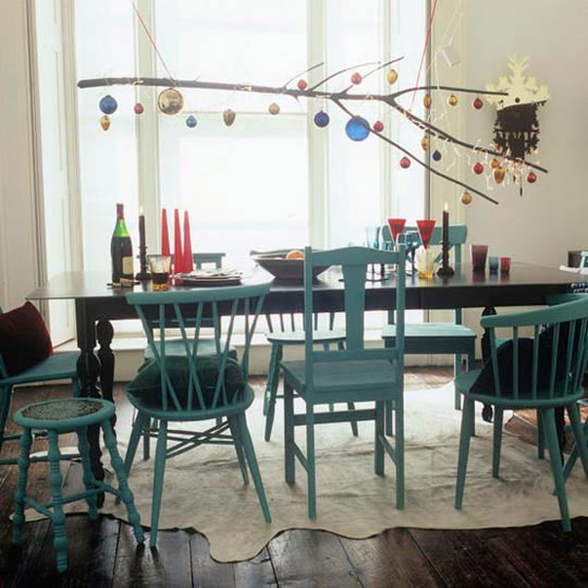 Dining Room with Mismatched Chairs