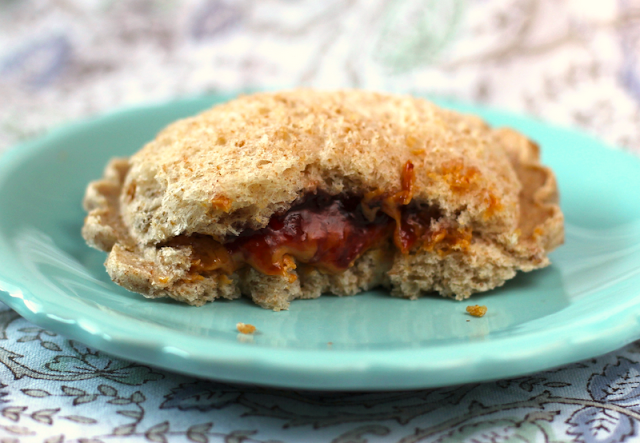 Healthy Homemade Peanut Butter and Jelly Uncrustables