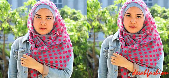 Trend Polkadots Jilbab dan Baju Muslim