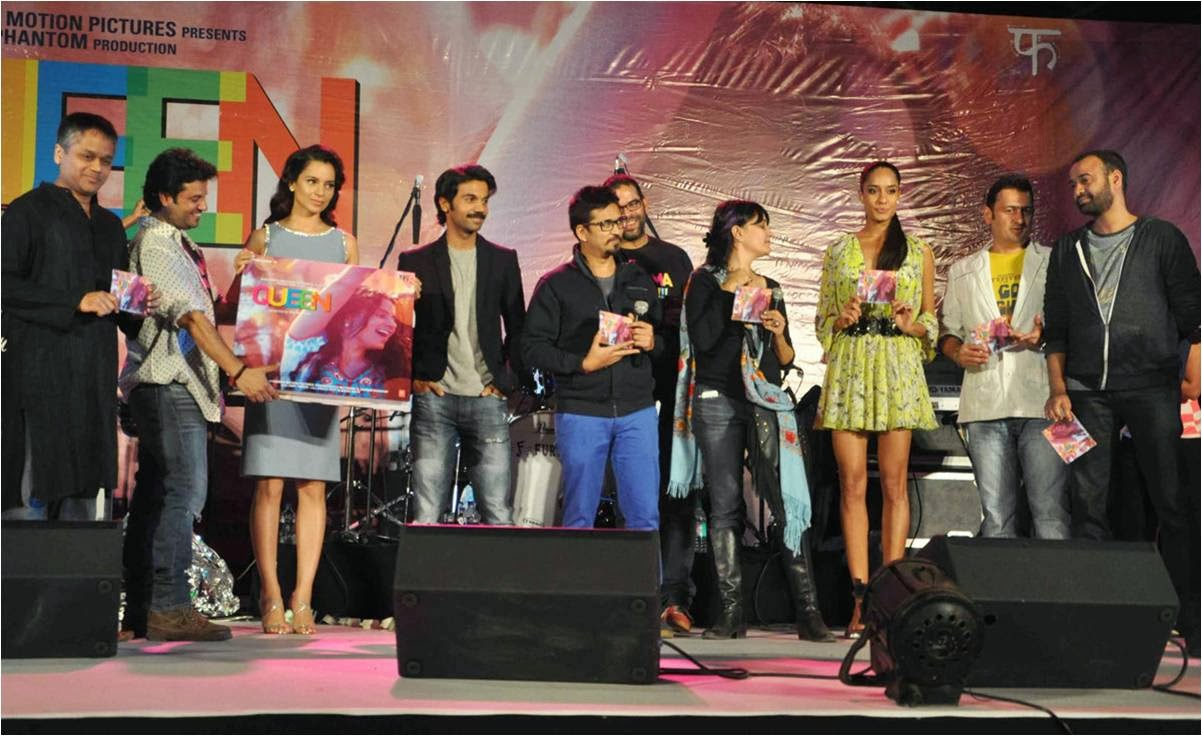 Kangana Ranaut and team Queen for movie music launch at Kala Ghofa Arts Festival