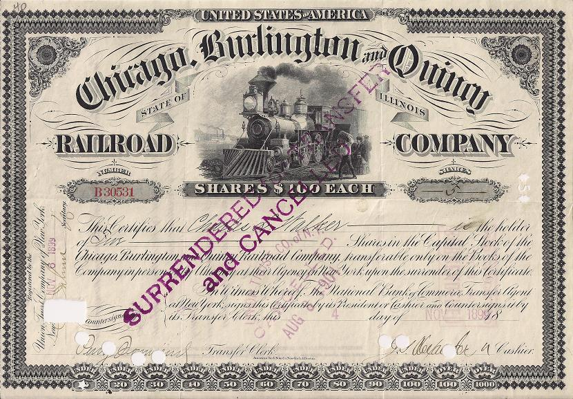 1898 Revenues Stock Transfer Power Of Attorney By Separate