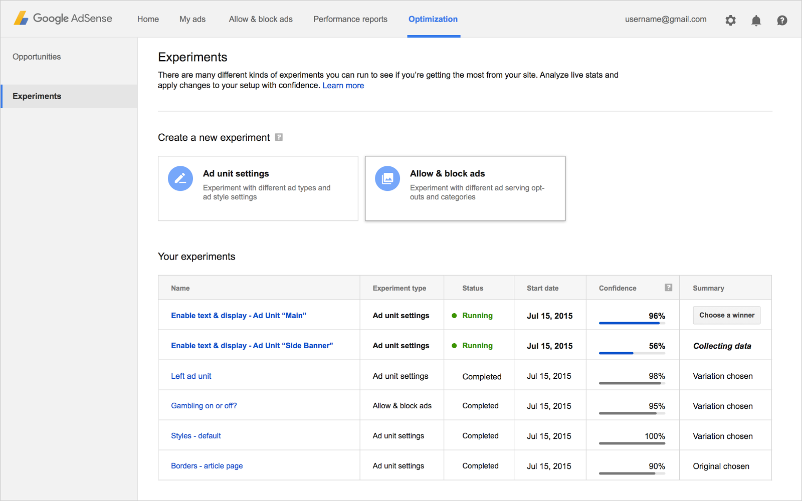 21 exp overview Explore opportunities with the new AdSense Optimization tab