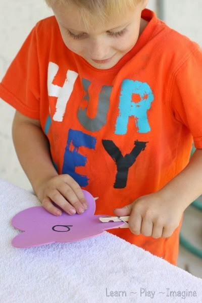 Fine motor preschool activity for spring - uppercase and lowercase letter match