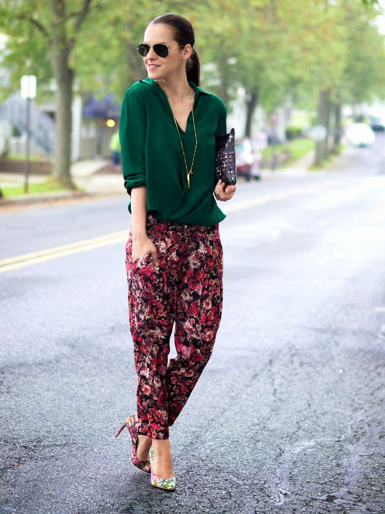 bittersweet colours, floral print, floral print pumps, Proenza Schouler bag, so pretty cara cotter jewelry, street style, Ted Beker, summer, bold basics,