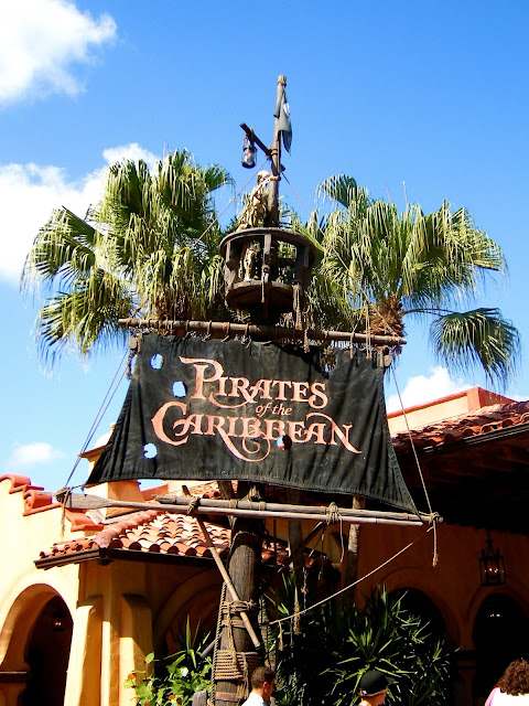 Pirate of the Caribbean sign for ride - Magic Kingdom, Disney World, Florida