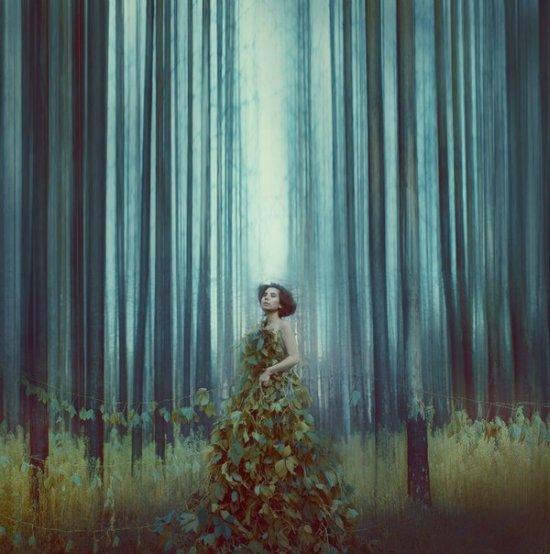 katerina plotnikova fotografia surreal mulheres natureza país das maravilhas Floresta