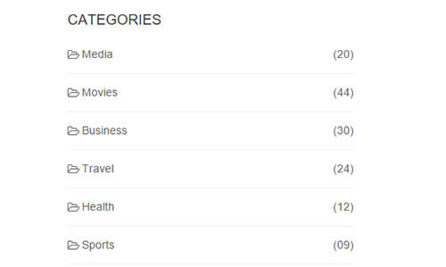 Bootstrap Category List