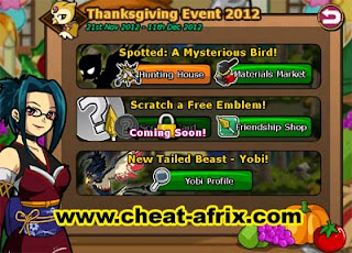 Cheat Thanksgiving Event 2012 Ninja Saga
