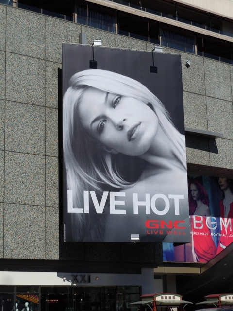 Live Hot GNC billboard
