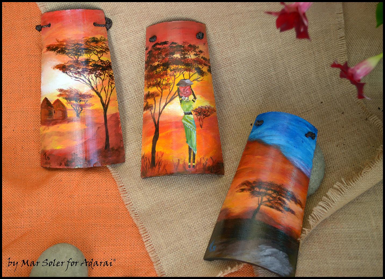 Adarai creaciones handmade nuevas mini tejas decoradas - Dibujos para pintar en tejas ...
