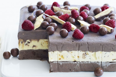 Choc-honeycomb ice-cream cake Recipe
