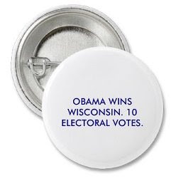 'Obama wins Wisconsin' button
