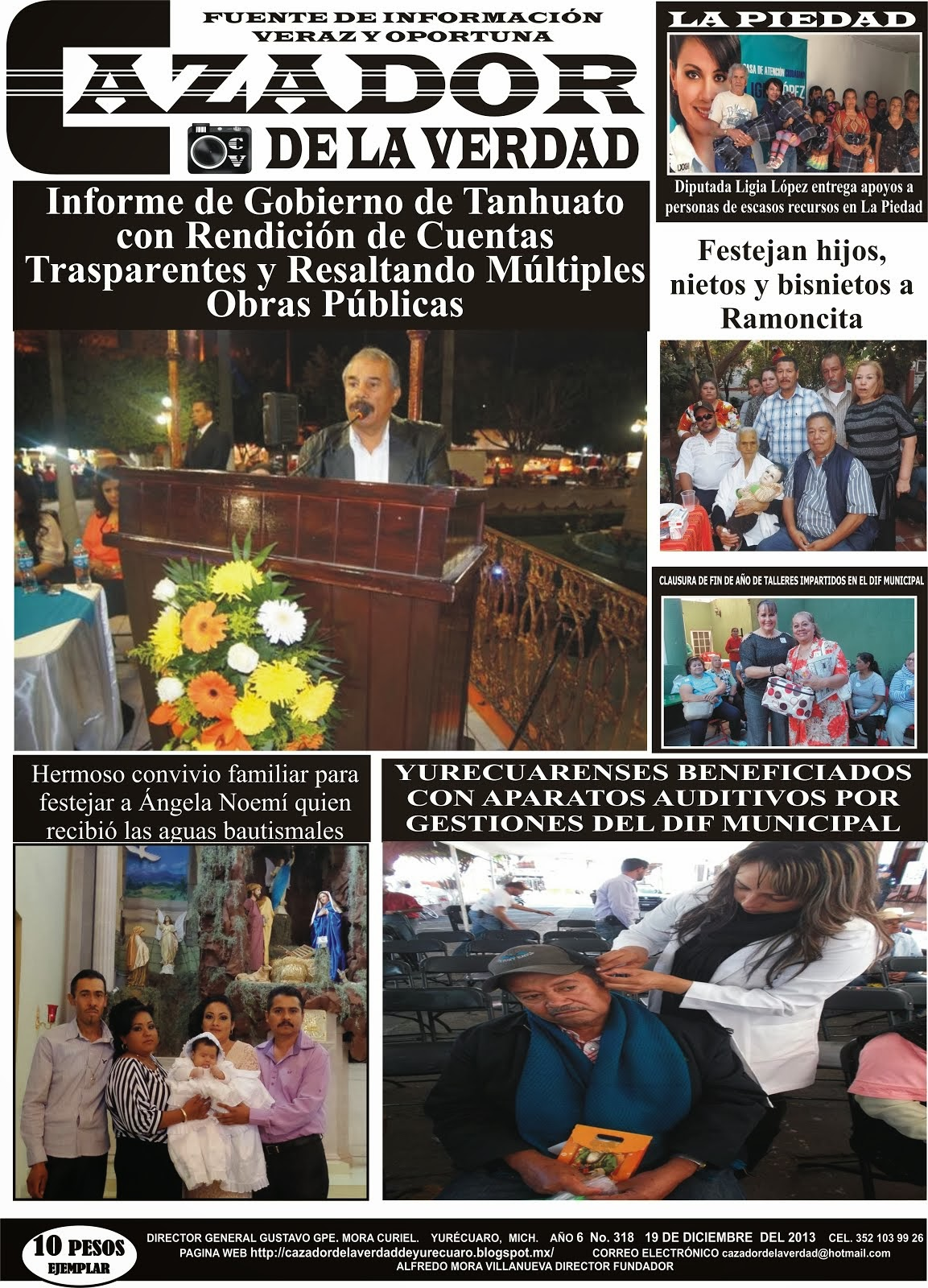 PERIODICO IMPRESO 19 DE DICIEMBRE DE 2013 CAZADOR