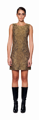 desenli altın elbise, kısa elbise