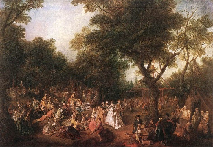 Lancret, Fete in a Wood, 1725-30