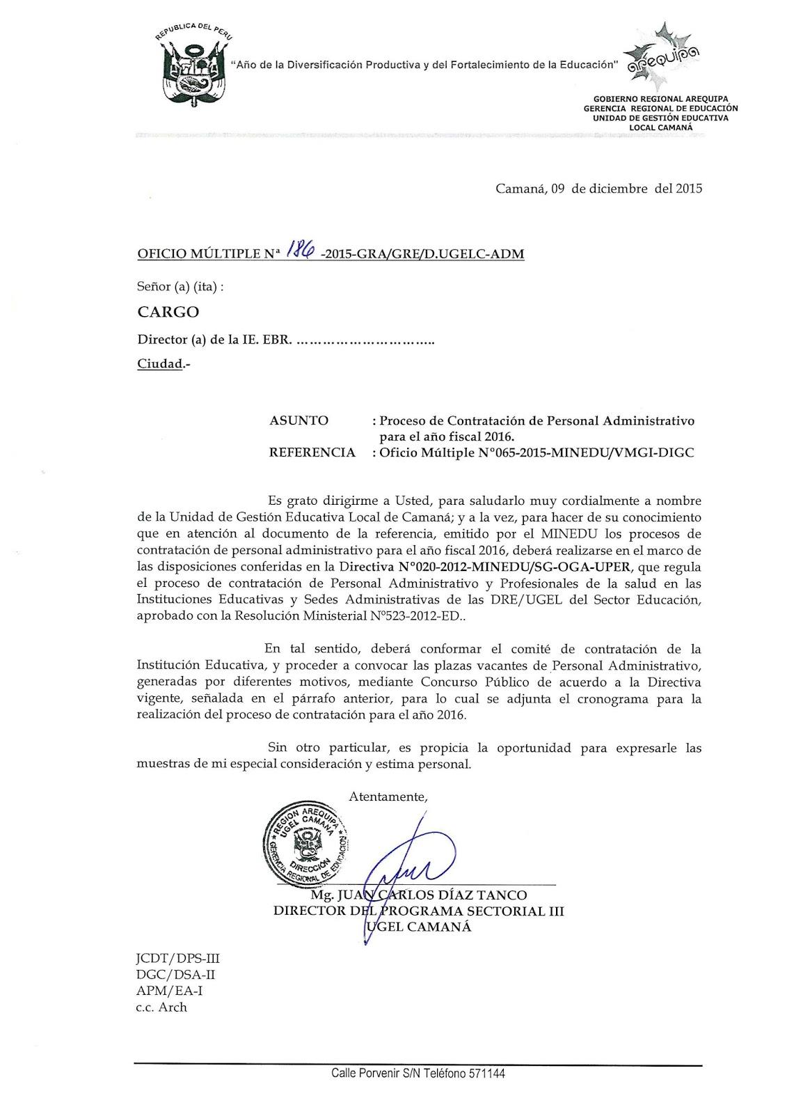 Contratos De Personal Administrativo 2016 Noticias M S