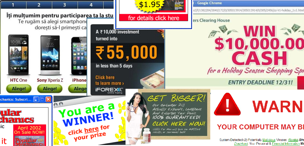 how to clear pop up ads