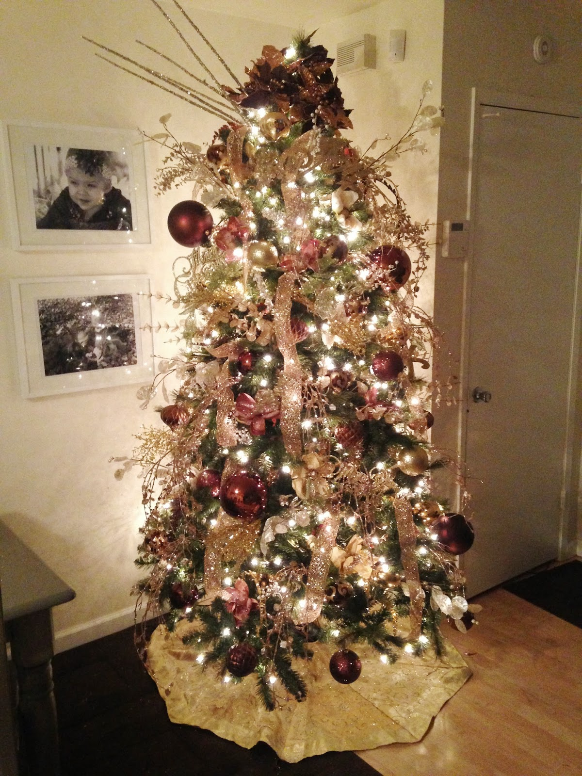 A little moore 7 steps to decorate a christmas tree How do i decorate my christmas tree with ribbon