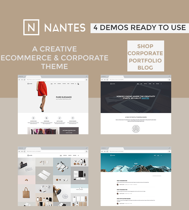 Creative eCommerce & Corporate WP Theme