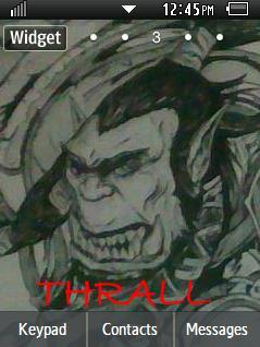 DOTA Thrall Sketch Samsung Corby 2 Theme  Wallpaper